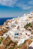Oia, traditional greek village Stock Photos