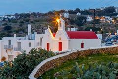 Oia Traditionelles Gebäude der griechischen Kirche Stockbilder
