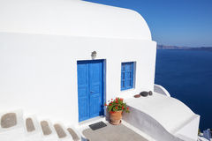 Oia, typical town of Santorini Royalty Free Stock Photos