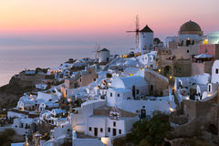 Oia View. Panoramic view of oia village in santorini Greece Stock Photo