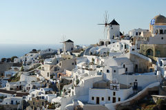 Oia village. Beautiful view of Oia village in Santorini island, Greece Stock Images