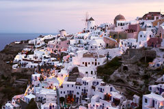 Oia village. At sunset, Santorini, Greece Royalty Free Stock Image
