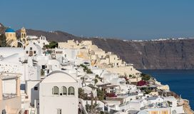 Oia village - Aegean sea - Santorini island - Greece. View of Oia village - Aegean sea - Santorini island - Greece royalty free stock photo