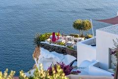 Oia village - Aegean sea - Santorini island - Greece. View of Oia village - Aegean sea - Santorini island - Greece stock image