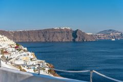 Oia village - Aegean sea - Santorini island - Greece. View of Oia village - Aegean sea - Santorini island - Greece royalty free stock photography
