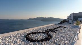 Oia village - Aegean sea - Santorini island - Greece. View of Oia village - Aegean sea - Santorini island - Greece royalty free stock photos
