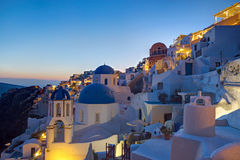 Oia village at dawn Royalty Free Stock Image