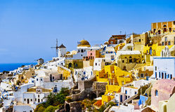 Oia Village. The famous Greek island of Santorini Stock Photos