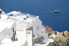 Oia village hotel, Santorini Stock Photography