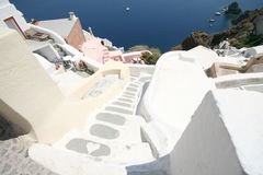 Oia village hotel, Santorini Royalty Free Stock Photos