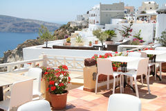 Oia village hotel, Santorini Royalty Free Stock Images