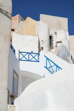 Oia village hotel, Santorini Stock Photo