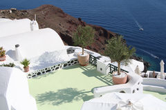 Oia village hotel, Santorini Stock Images
