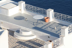 Oia village hotel, Santorini Stock Photos