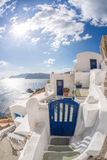 Oia village with houses on Santorini island in Greece Royalty Free Stock Image