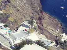 Oia village on the island of Santorini Stock Photo