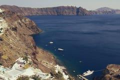Oia village on the island of Santorini. Cyclades, Greece Royalty Free Stock Image