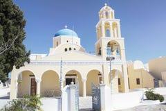Oia village on the island of Santorini. Cyclades, Greece Stock Photos