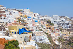 Oia village on island of Santorini Stock Photos