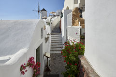 Oia village in the morning light Royalty Free Stock Photo