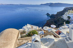 Oia village in the morning light Royalty Free Stock Photos