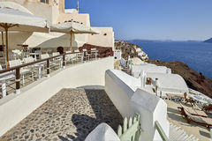 Oia village in the morning light Royalty Free Stock Images