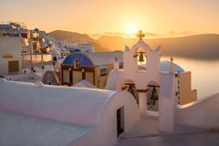 Oia Village in the Morning, Santorini, Greece Royalty Free Stock Image