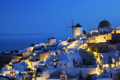 Oia village by night Stock Image