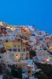 Oia village at night, Santorini Stock Photos