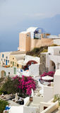 Oia Village Panorama Stock Photography