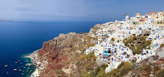 Oia village in Santorini Royalty Free Stock Photography