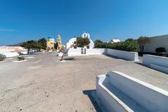 Oia village - Santorini Cyclades Island - Aegean sea - Greece. View of Oia village - Santorini Cyclades Island - Aegean sea - Greece stock photo