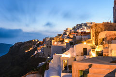 Oia village in Santorini in the evening, Greece Stock Photography