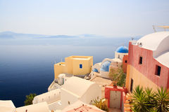 Oia village in Santorini Greece Stock Photography