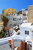 Oia village at Santorini, Greece Stock Photo