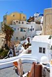 Oia village at Santorini, Greece stock photo
