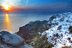 Oia village at Santorini in Greece Royalty Free Stock Image