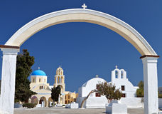 Oia village at Santorini, Greece Stock Photography