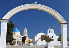 Oia village at Santorini, Greece stock photography
