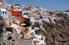 Oia village on Santorini, Greece Stock Photos