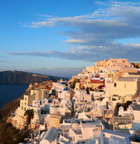 Oia village in Santorini in Greece, early morning Stock Image