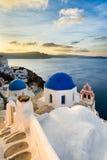 Oia village in Santorini, Greece Stock Photography