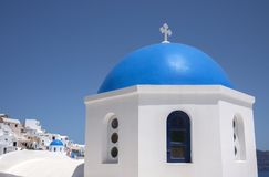 Oia village in Santorini island Stock Photography