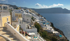 Oia village at Santorini island Royalty Free Stock Images