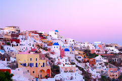 Oia village in Santorini island. Stock Images