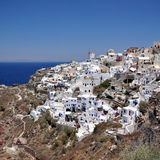 Oia village on Santorini island Royalty Free Stock Photos