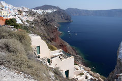 Oia village on Santorini island Stock Photos