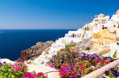 Oia village on Santorini island, Cyclades, Greece Royalty Free Stock Photos