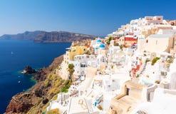 Oia village on Santorini island, Cyclades, Greece Royalty Free Stock Photography