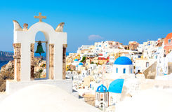 Oia village on Santorini island, Cyclades, Greece. Typical architecture on greek island cyclades Royalty Free Stock Image